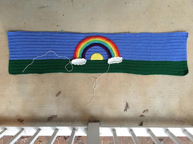comfort crochet shawl