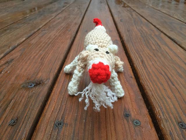 sock money crochet goat