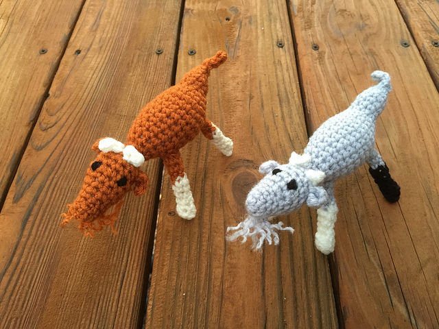 Two crochet goats for Christmas 2014
