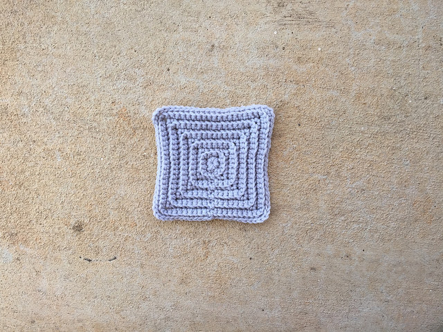 crochet textured square