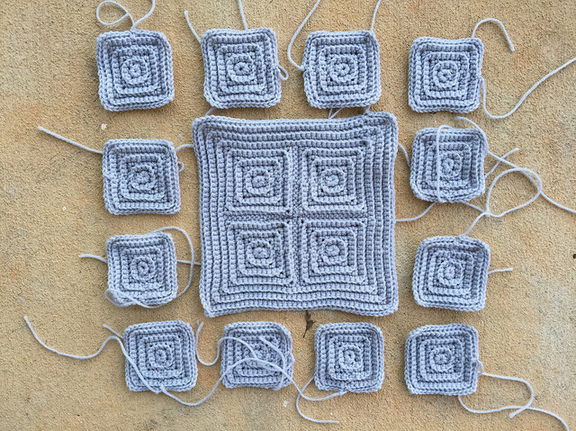 lucky thirteen textured crochet squares
