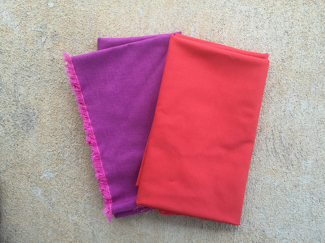two fabrics for lining