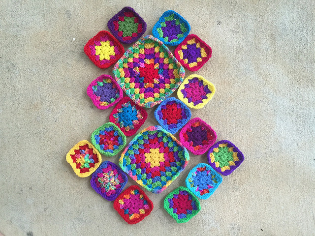 granny squares for a crochet purse