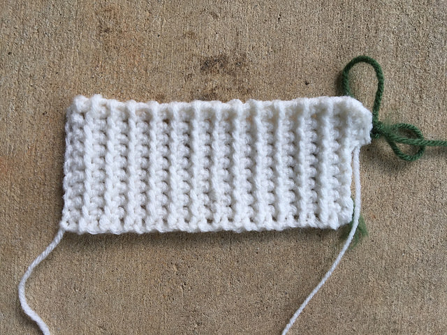 A future crochet piano keyboard for Miss Nora Buchta of the Springfield Road