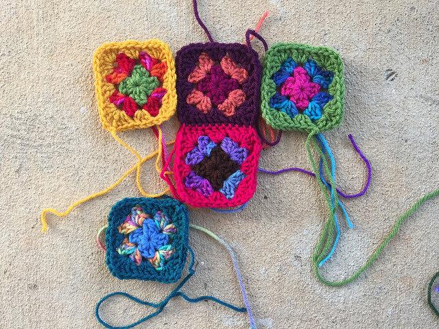 granny square crochet square nine patch