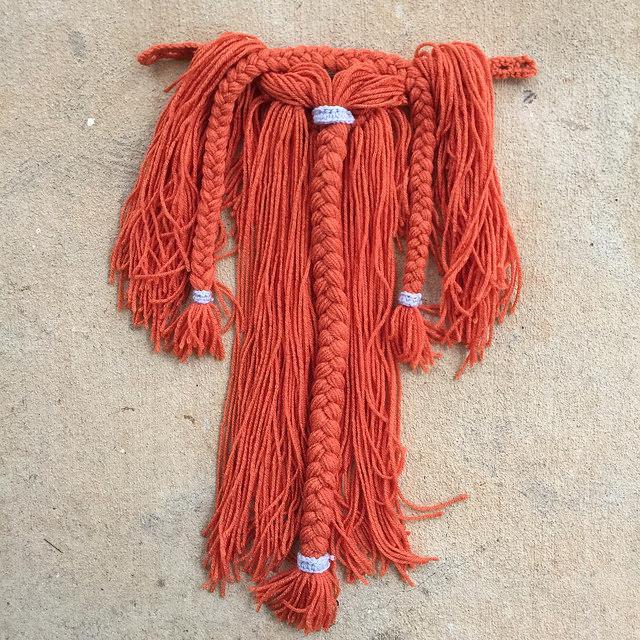 orange yarn beard
