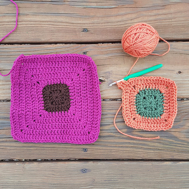 color study crochet squares
