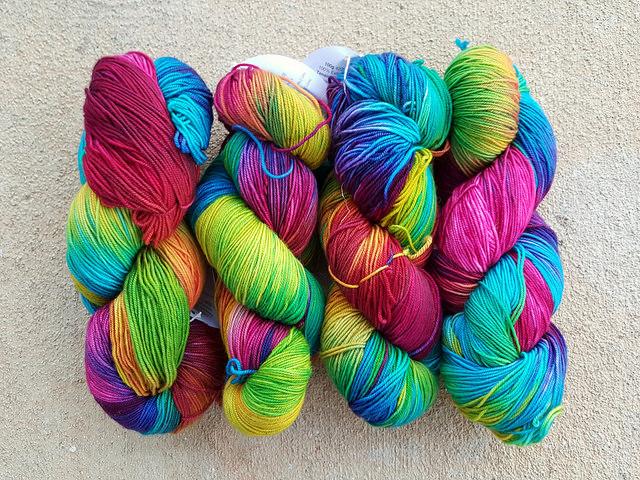 tie-dye fingering weight merino wool