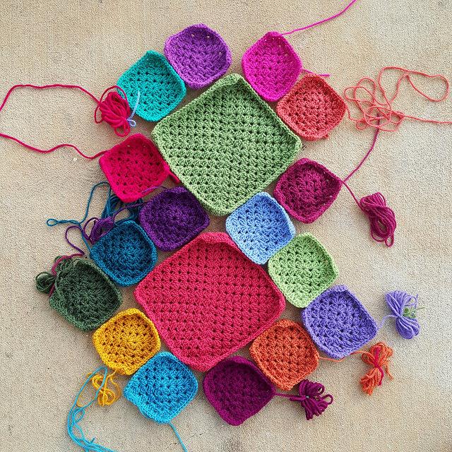granny squares for a crochet bag