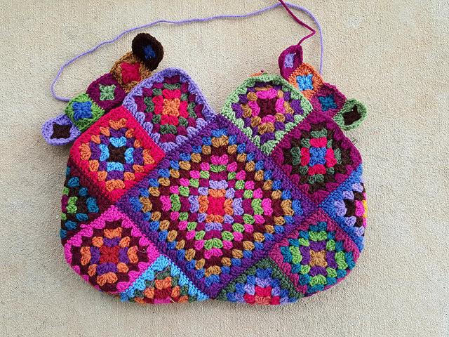 purse handle crochet squares