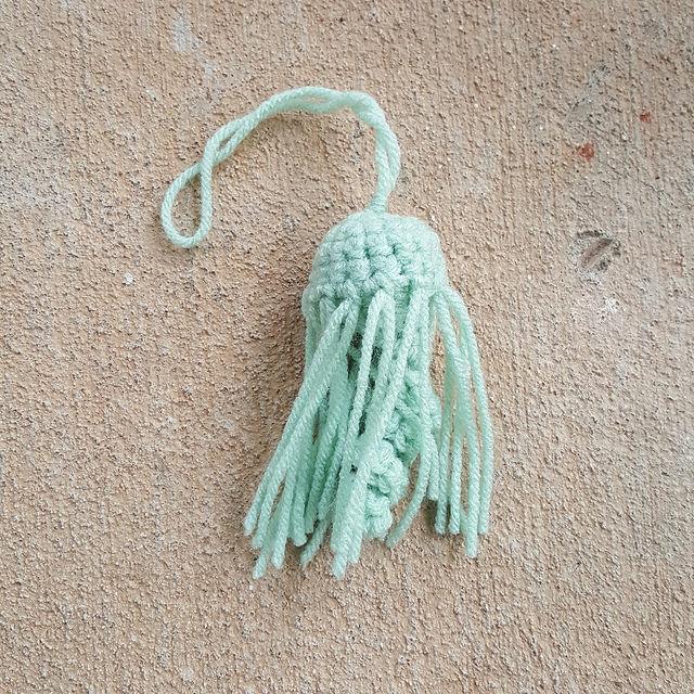 Smaller crochet jellyfish amigurumi