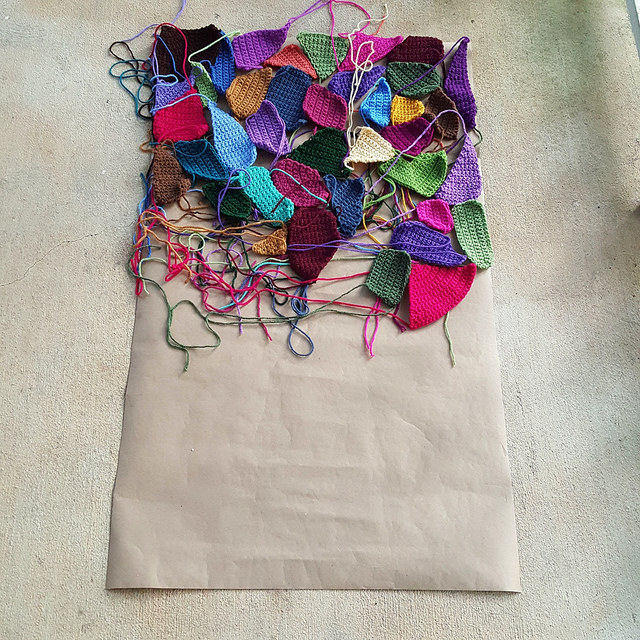 crazy quilt crochet pieces for a crochet blanket