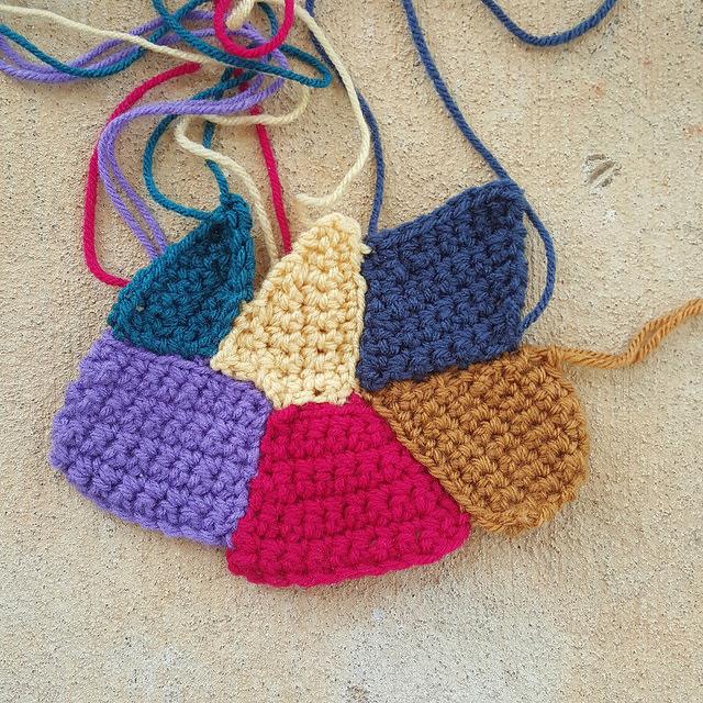 crazy quilt crochet pieces