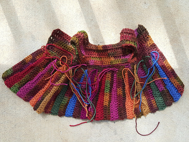 crochet sweater with ends to be woven in