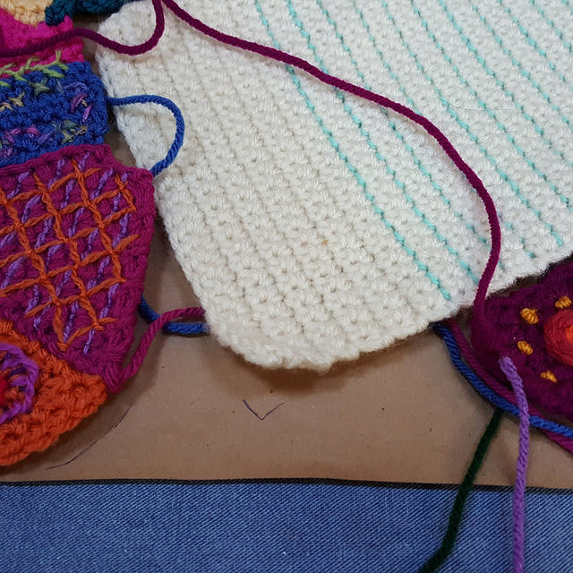 crochet crazy quilt gap to be filled so that there are no regrets