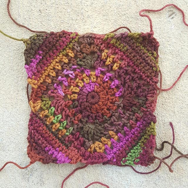cherry cola crochet granny square