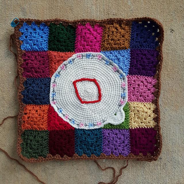 tambour crochet granny squares