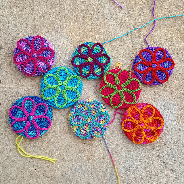 crochet flower motifs