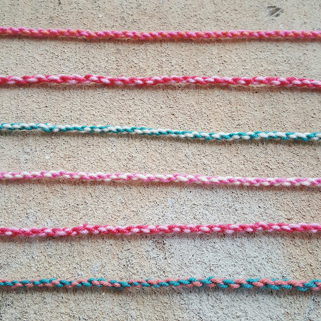 Twisted tassels for a crochet scarf