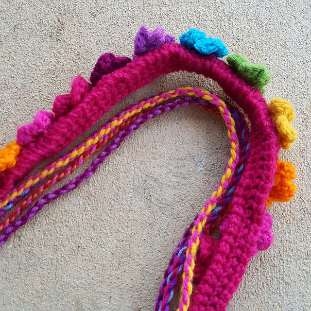 crochet strap and twisted cords