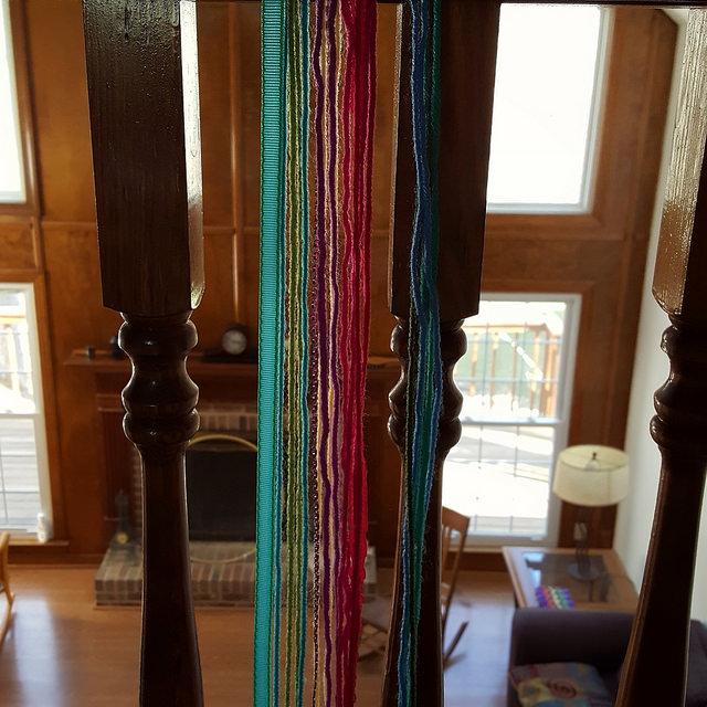 making a four plait braid