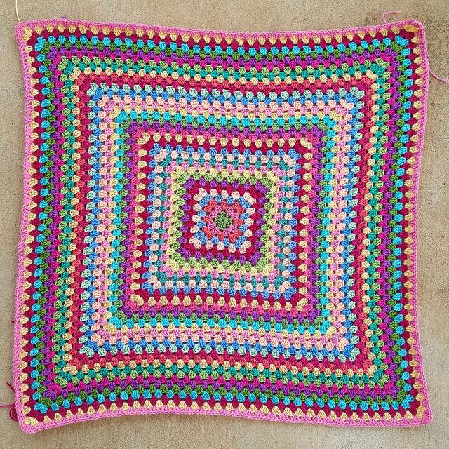 multicolor crochet square blanket