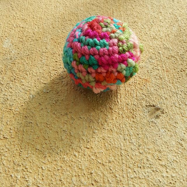 scrap yarn crochet sphere