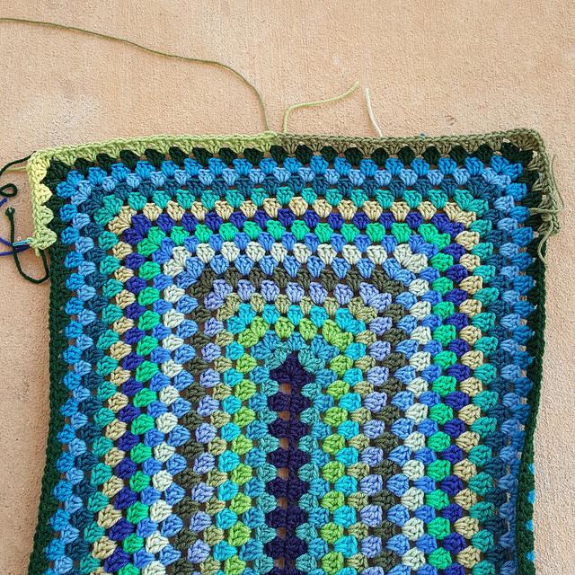 two green yarns