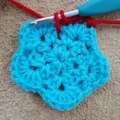 long single crochet stitch, spike stitch