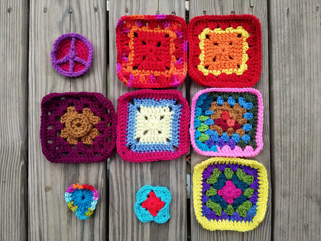 nine future rehabbed crochet squares