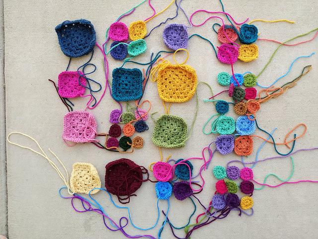 Twenty groups of crochet granny squares identified for crochet rehab