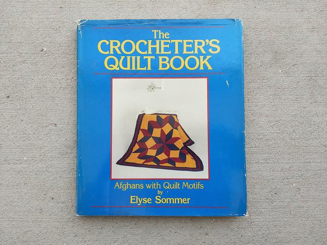 A crochet book If found while unpacking a box