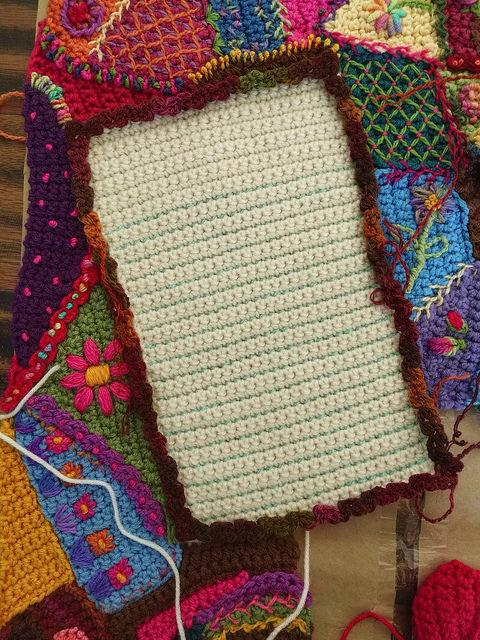 One cherry cola crochet rickrack frame done