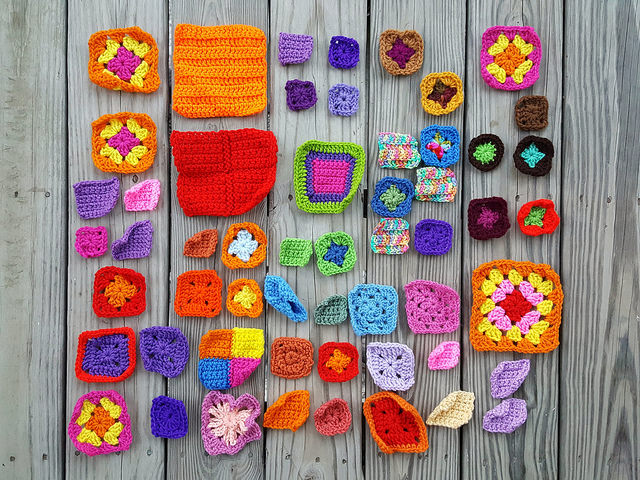 I reach my unintended goals and weave in all the ends of the crochet remnant cache