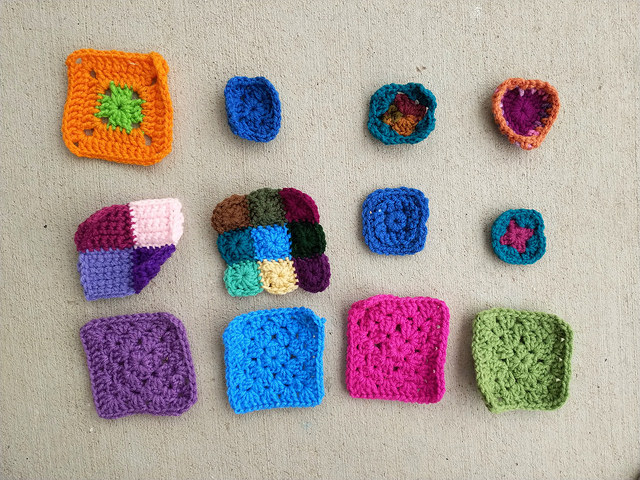 Twelve crochet remnants mid crochet rehab