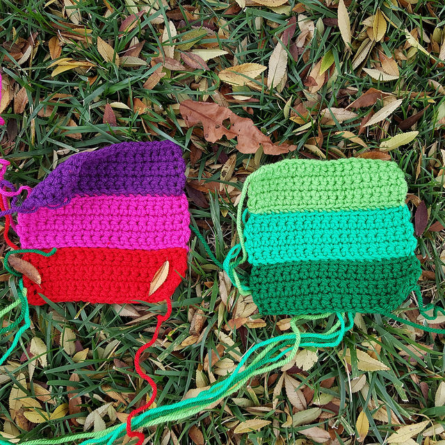 I try something a little different with my crochet rectangle remnants