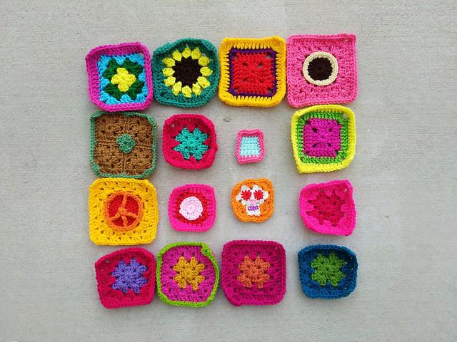 Progress on rehabbing sixteen crochet remnants