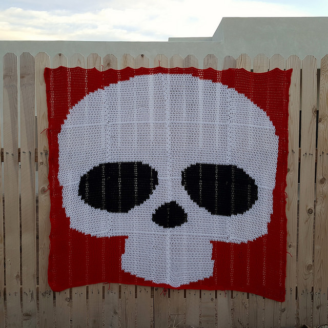 The Day of the Dead yarn bomb in need of tricking out