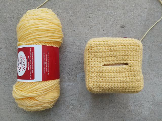 Progress on my interpretation of Twinkie Chan's crochet Gingerbread House