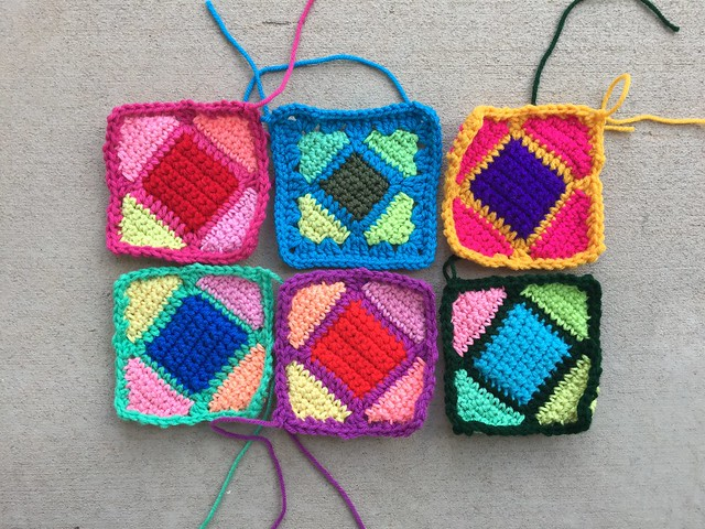 Six more fully rehabbed crochet remnants
