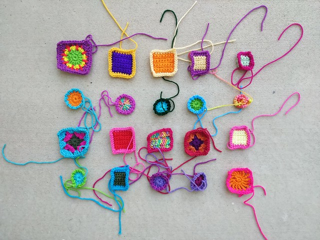 Twenty remnants with the first round of crochet rehab