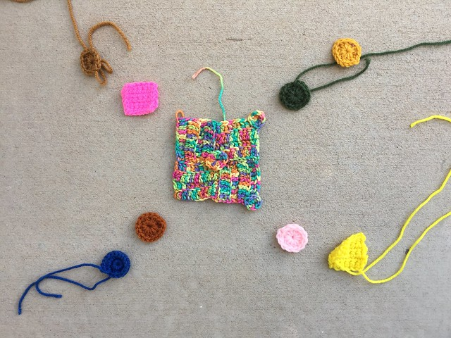 Nine more crochet remnants