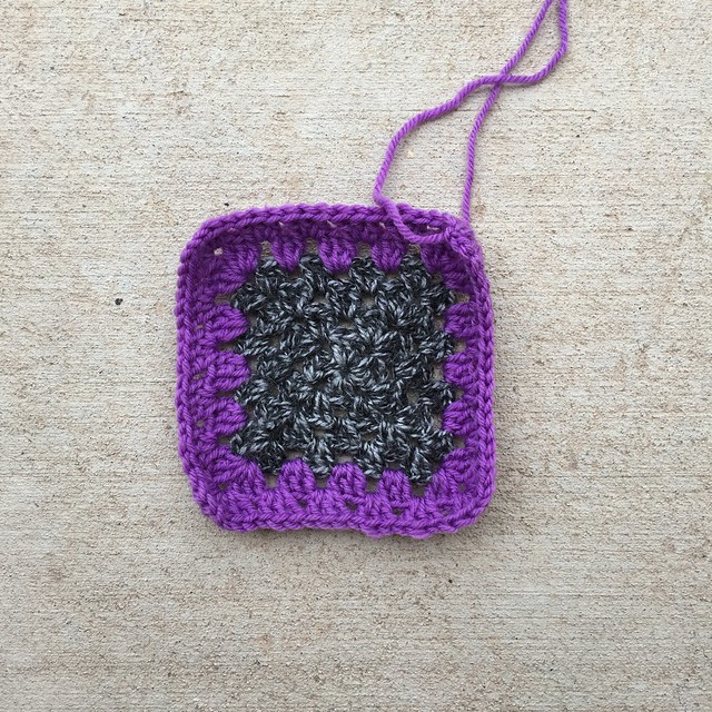 The first fully rehabbed crochet square