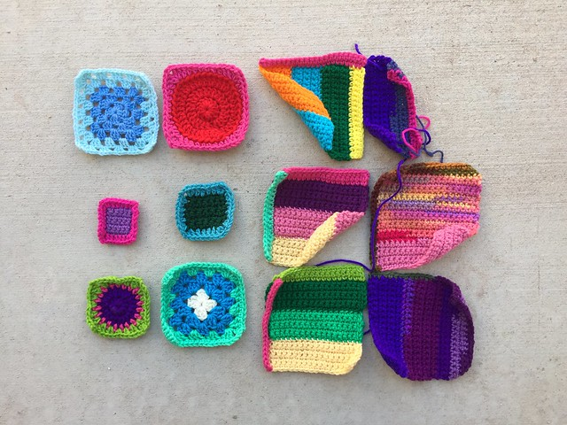 My crochet remnant rehab after some afternoon tidying up