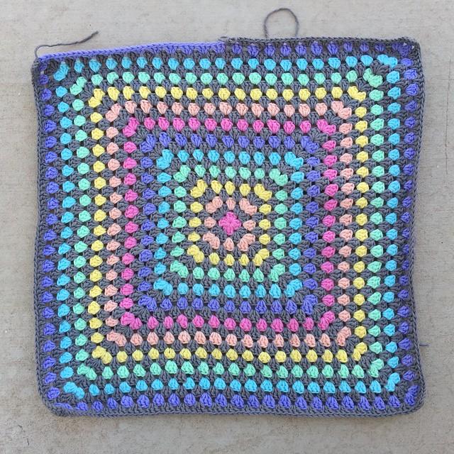 Where I began the crochet day on Sunday