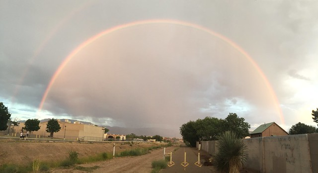 I see a rainbow in the Near North Valley, and I get a little distracted