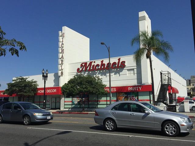 Michaels Craft store on Colorado Boulevard in Pasadena, California