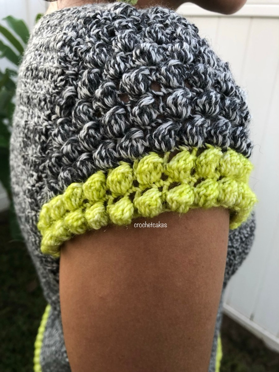 crochet bobble stitch sleeve