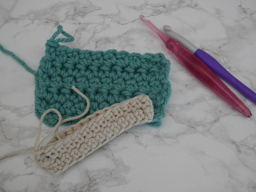 extended single crochet stitch sample