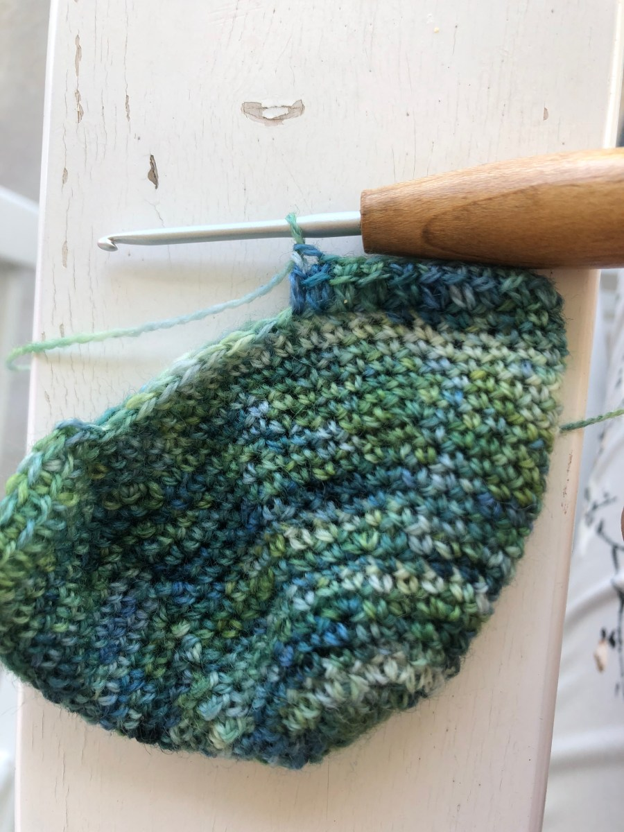 crochet sock toe